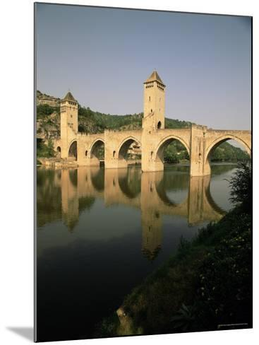 The Medieval Pont Valentre Over the River Lot, Cahors, Lot, Midi Pyrenees, France-David Hughes-Mounted Photographic Print