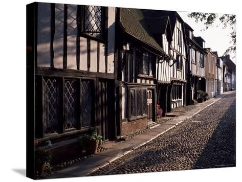 Cobbled Street, Rye, East Sussex, Sussex, England, United Kingdom-David Hughes-Stretched Canvas Print