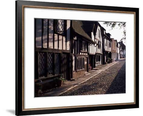 Cobbled Street, Rye, East Sussex, Sussex, England, United Kingdom-David Hughes-Framed Art Print