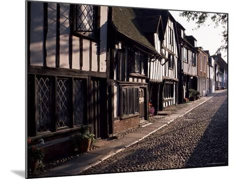Cobbled Street, Rye, East Sussex, Sussex, England, United Kingdom-David Hughes-Mounted Photographic Print