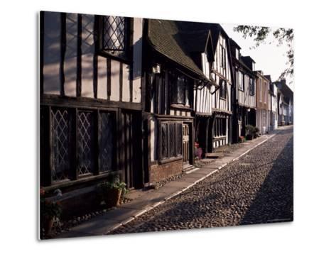 Cobbled Street, Rye, East Sussex, Sussex, England, United Kingdom-David Hughes-Metal Print