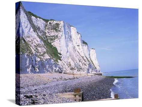 St. Margaret's at Cliffe, White Cliffs of Dover, Kent, England, United Kingdom-David Hughes-Stretched Canvas Print