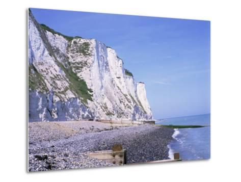 St. Margaret's at Cliffe, White Cliffs of Dover, Kent, England, United Kingdom-David Hughes-Metal Print