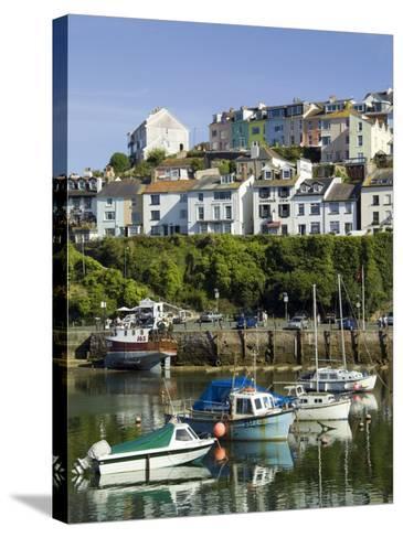 Brixham Harbour, Devon, England, United Kingdom-David Hughes-Stretched Canvas Print