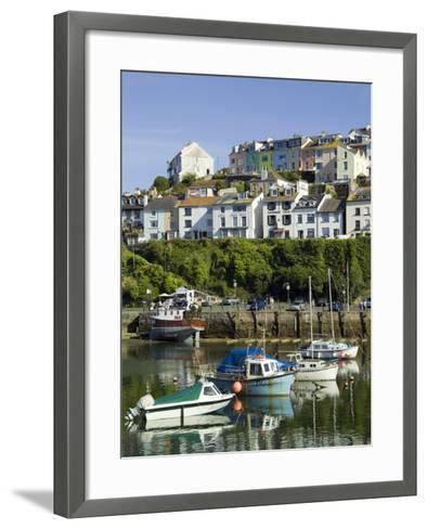 Brixham Harbour, Devon, England, United Kingdom-David Hughes-Framed Art Print