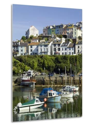 Brixham Harbour, Devon, England, United Kingdom-David Hughes-Metal Print