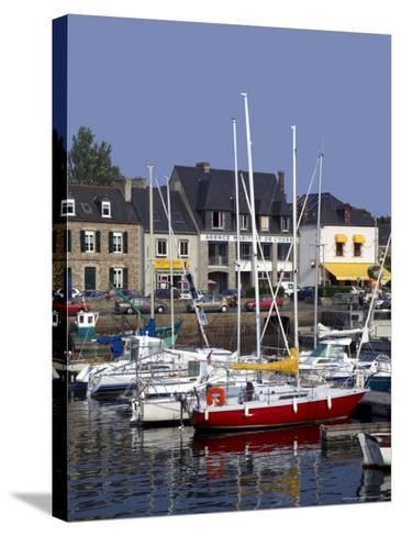 Harbour, Paimpol, Cotes d'Armor, Brittany, France-David Hughes-Stretched Canvas Print