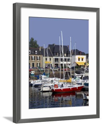 Harbour, Paimpol, Cotes d'Armor, Brittany, France-David Hughes-Framed Art Print