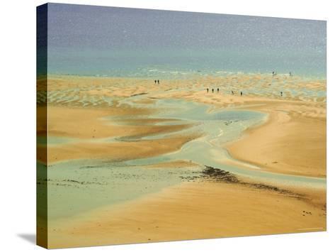 Beach at Resort of Barneville Carteret, Cote De Nacre, Cotentin Peninsula, Manche, Normandy, France-David Hughes-Stretched Canvas Print