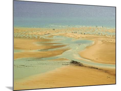Beach at Resort of Barneville Carteret, Cote De Nacre, Cotentin Peninsula, Manche, Normandy, France-David Hughes-Mounted Photographic Print