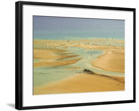 Beach at Resort of Barneville Carteret, Cote De Nacre, Cotentin Peninsula, Manche, Normandy, France-David Hughes-Framed Art Print