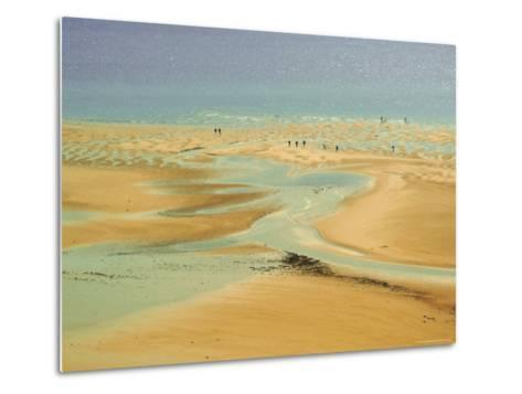 Beach at Resort of Barneville Carteret, Cote De Nacre, Cotentin Peninsula, Manche, Normandy, France-David Hughes-Metal Print