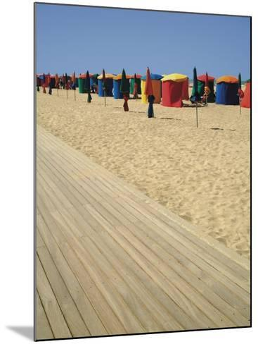 La Planche (Boadwalk) and Beach, Deauville, Calvados, Normandy, France-David Hughes-Mounted Photographic Print