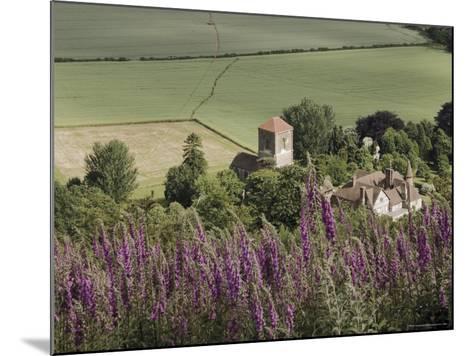 Little Malvern Village, Viewed from Main Ridge of the Malvern Hills, Worcestershire, England-David Hughes-Mounted Photographic Print