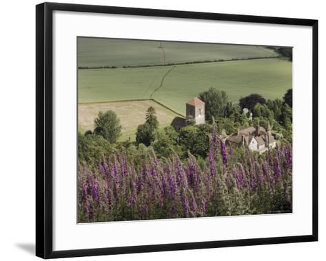 Little Malvern Village, Viewed from Main Ridge of the Malvern Hills, Worcestershire, England-David Hughes-Framed Art Print