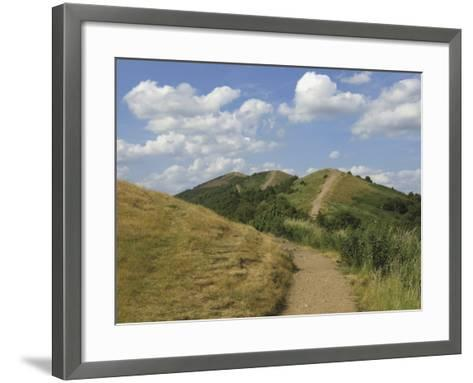 Footpath Along the Main Ridge of the Malvern Hills, Worcestershire, Midlands, England-David Hughes-Framed Art Print