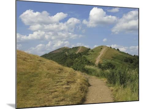 Footpath Along the Main Ridge of the Malvern Hills, Worcestershire, Midlands, England-David Hughes-Mounted Photographic Print