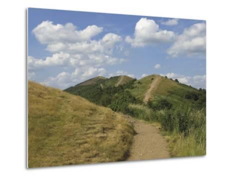 Footpath Along the Main Ridge of the Malvern Hills, Worcestershire, Midlands, England-David Hughes-Metal Print