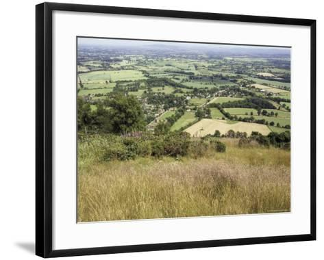 The Vale of Evesham from the Main Ridge of the Malvern Hills, Worcestershire, England-David Hughes-Framed Art Print
