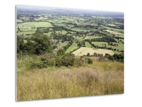 The Vale of Evesham from the Main Ridge of the Malvern Hills, Worcestershire, England-David Hughes-Metal Print