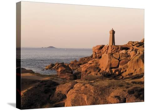 Pars-Kamor Lighthouse, Breton Corniche, Cotes d'Armor, France-David Hughes-Stretched Canvas Print