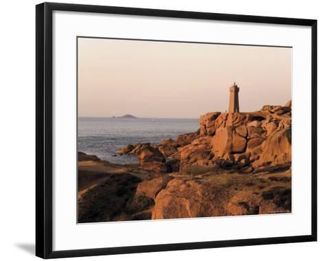 Pars-Kamor Lighthouse, Breton Corniche, Cotes d'Armor, France-David Hughes-Framed Art Print