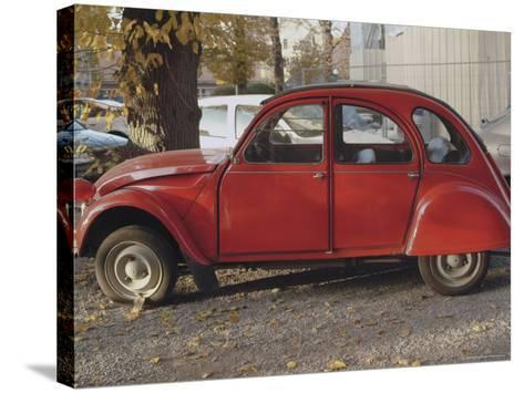 Citroen 2Cv Parked in Centre of Town, St. Omer, Pas De Calais, France-David Hughes-Stretched Canvas Print