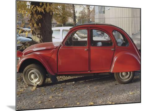 Citroen 2Cv Parked in Centre of Town, St. Omer, Pas De Calais, France-David Hughes-Mounted Photographic Print