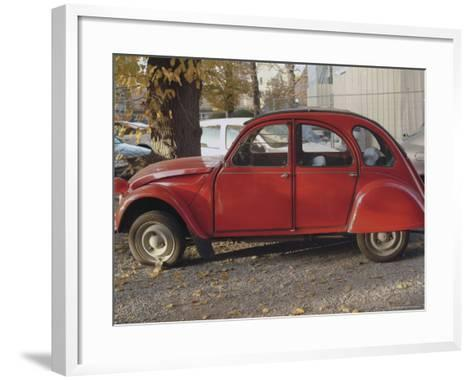 Citroen 2Cv Parked in Centre of Town, St. Omer, Pas De Calais, France-David Hughes-Framed Art Print