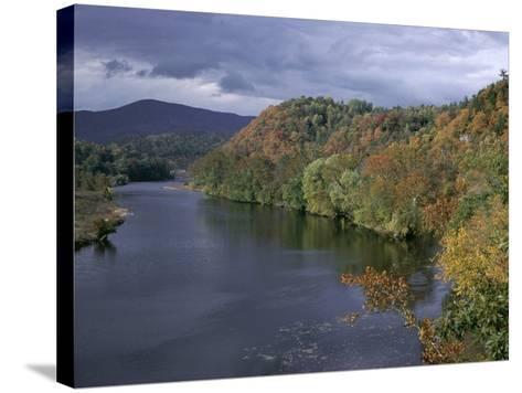 James River, Blue Ridge Parkway, Virginia, USA-James Green-Stretched Canvas Print
