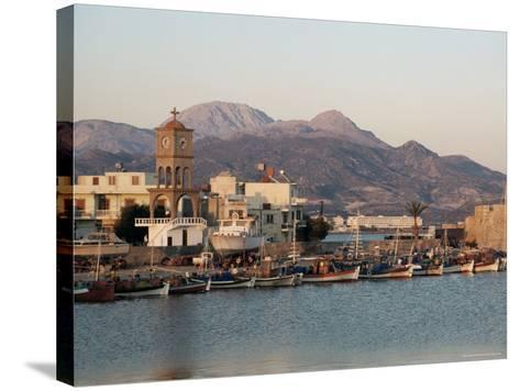 Harbour, Ierapetra, Crete, Greece-James Green-Stretched Canvas Print