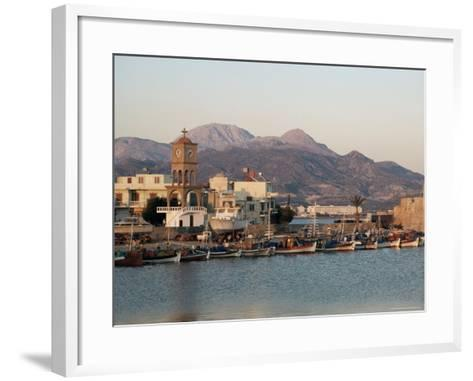 Harbour, Ierapetra, Crete, Greece-James Green-Framed Art Print
