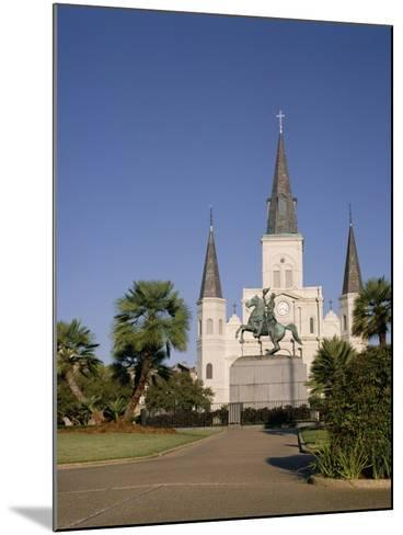 Spires of Christian Cathedral, St. Louis Cathedral, New Orleans, Louisiana, USA-G Richardson-Mounted Photographic Print
