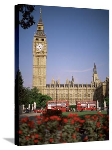 Houses of Parliament, Unesco World Heritage Site, and Parliament Square, London-G Richardson-Stretched Canvas Print