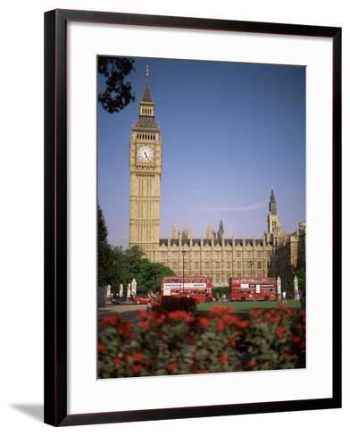 Houses of Parliament, Unesco World Heritage Site, and Parliament Square, London-G Richardson-Framed Art Print
