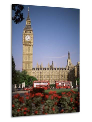 Houses of Parliament, Unesco World Heritage Site, and Parliament Square, London-G Richardson-Metal Print