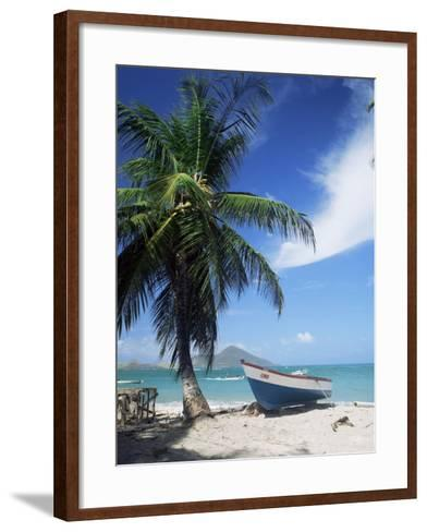 View Towards St. Kitts, Nevis, Leeward Islands, West Indies, Caribbean, Central America-G Richardson-Framed Art Print