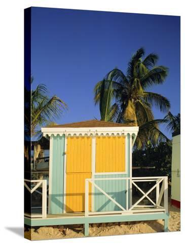 Beach Hut, Dickenson Bay, Antigua, Caribbean, West Indies-G Richardson-Stretched Canvas Print