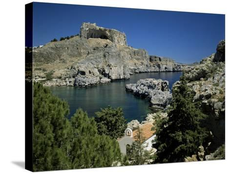 Lindos, Island of Rhodes, Dodecanese, Greek Islands, Greece-G Richardson-Stretched Canvas Print