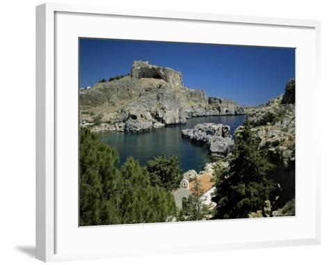 Lindos, Island of Rhodes, Dodecanese, Greek Islands, Greece-G Richardson-Framed Art Print