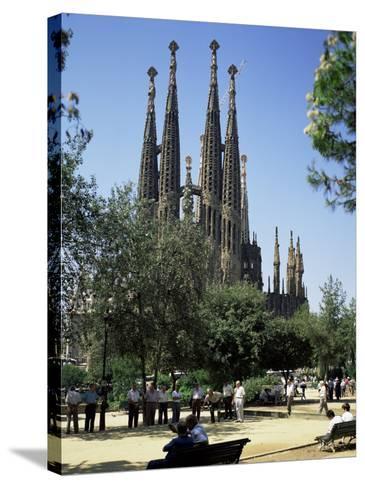 Gaudi's Sagrada Familia, Barcelona, Catalonia, Spain-G Richardson-Stretched Canvas Print