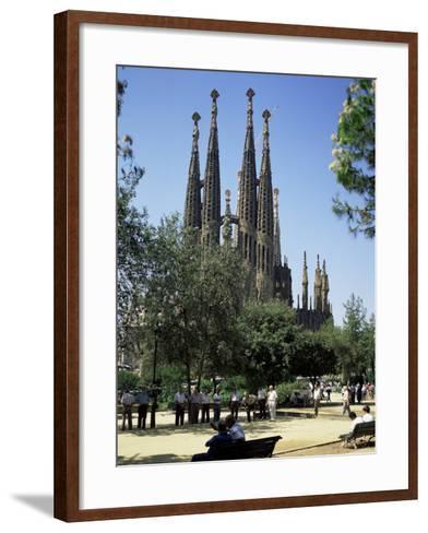 Gaudi's Sagrada Familia, Barcelona, Catalonia, Spain-G Richardson-Framed Art Print