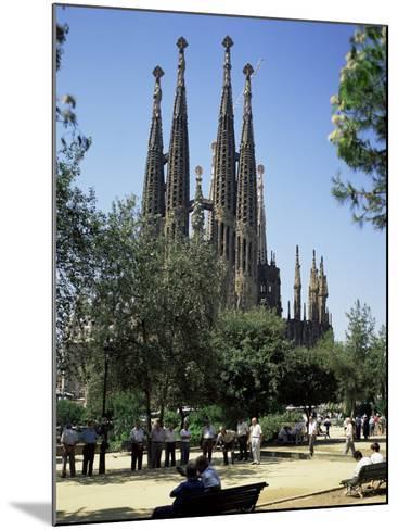 Gaudi's Sagrada Familia, Barcelona, Catalonia, Spain-G Richardson-Mounted Photographic Print