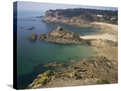 Portelet Bay, Jersey, Channel Islands, United Kingdom-G Richardson-Stretched Canvas Print