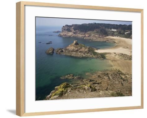 Portelet Bay, Jersey, Channel Islands, United Kingdom-G Richardson-Framed Art Print