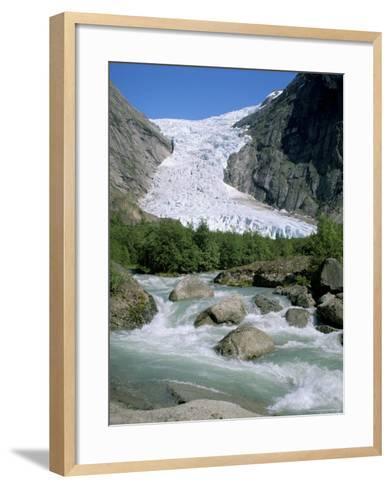Briksdal Glacier, Sogn and Fjordane, Norway, Scandinavia-G Richardson-Framed Art Print