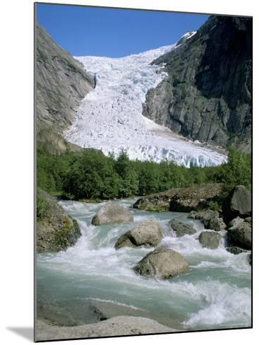 Briksdal Glacier, Sogn and Fjordane, Norway, Scandinavia-G Richardson-Mounted Photographic Print