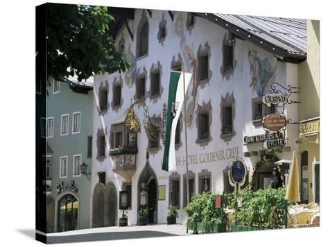 Hotel Exterior, Kitzbuhel, Tirol (Tyrol), Austria-G Richardson-Stretched Canvas Print