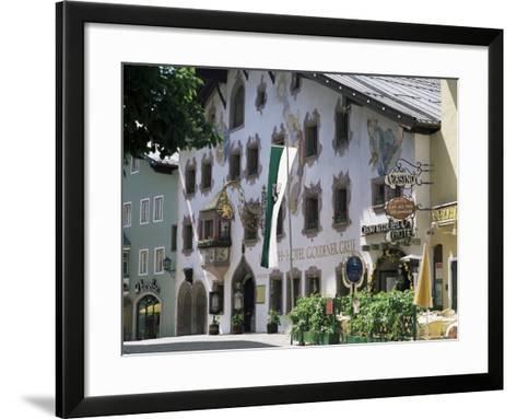 Hotel Exterior, Kitzbuhel, Tirol (Tyrol), Austria-G Richardson-Framed Art Print