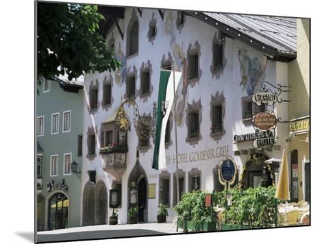 Hotel Exterior, Kitzbuhel, Tirol (Tyrol), Austria-G Richardson-Mounted Photographic Print